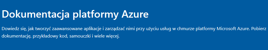logo - dokumentacja Azure