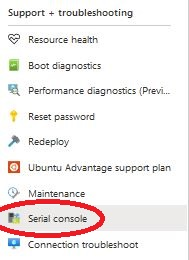Serial console (Azure)