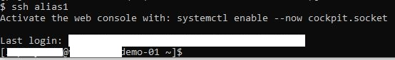 ssh linux connection - use .ssh/config