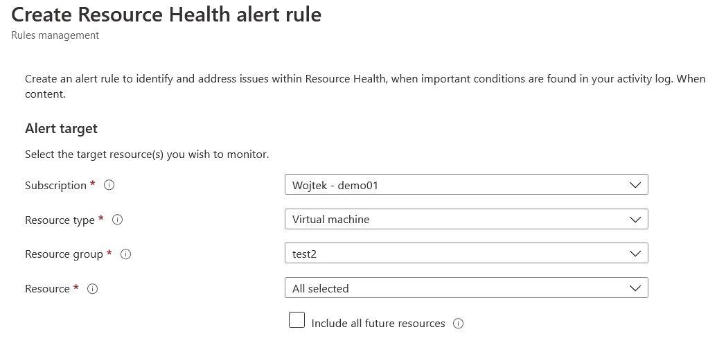 Azure resource health add