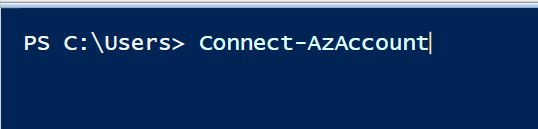 Powershell Connect-AzAccount