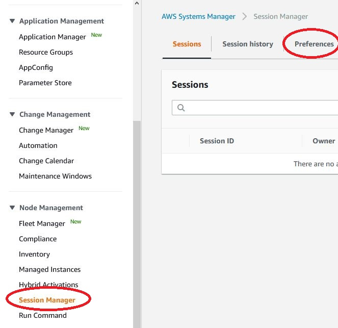 AKS - system manager - session manager