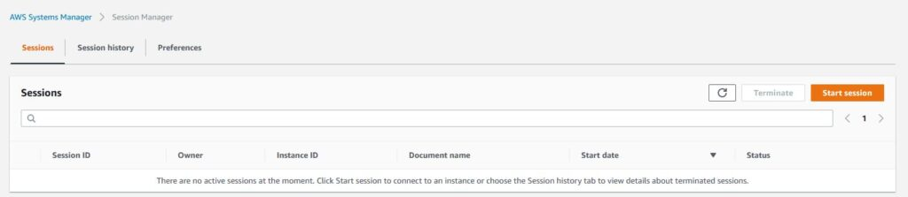 AWS - session manager - connect