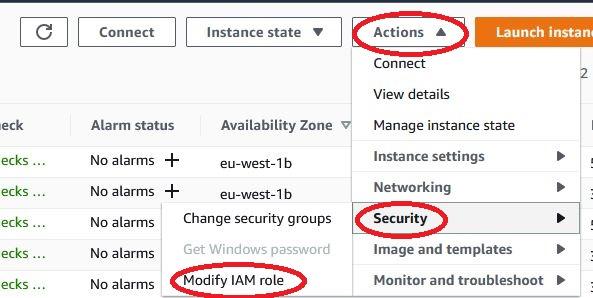 AWS - EC2 modify IAM