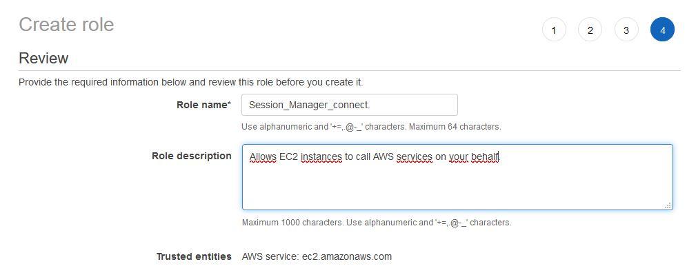 AWS - IAM - create role -name