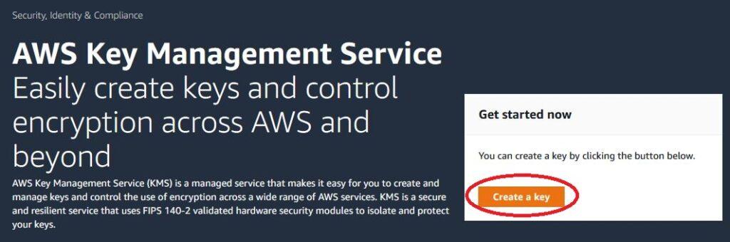 AWS - KMI create key