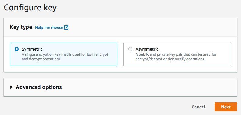 AWS - KMI create key symetric