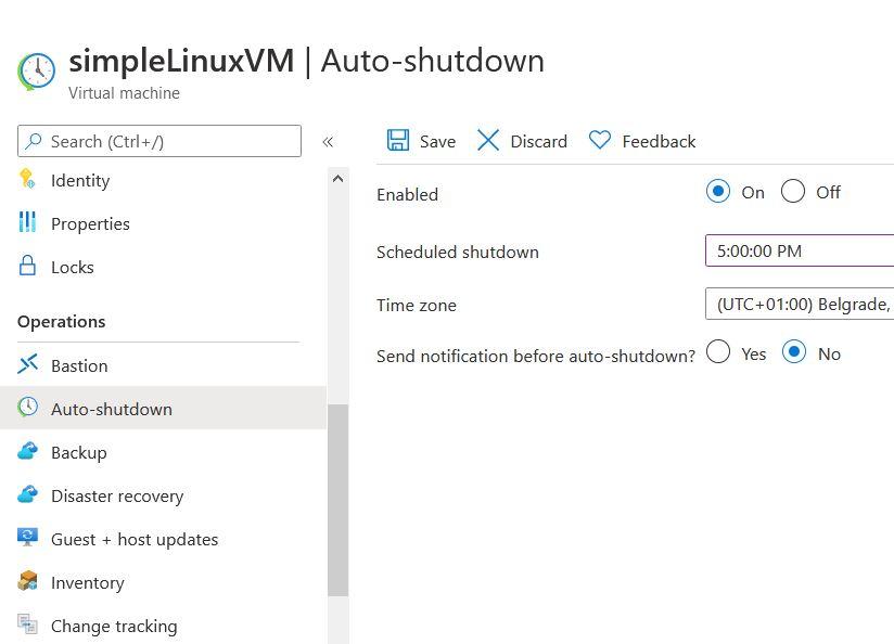 Azure Auto-shutdown