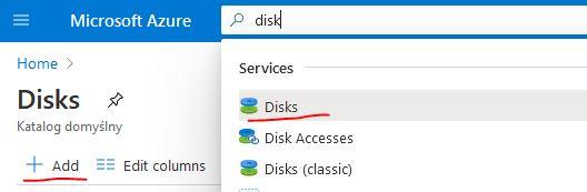 add azure disk