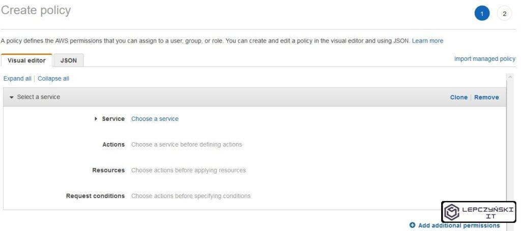 AWS - add inline policy - JSON