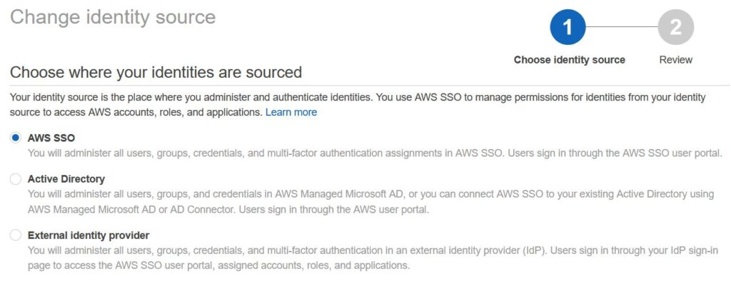 sso aws connect to AD